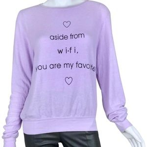283da5e7 WILDFOX wifi purple sweater M RARE WILDFOX all ...